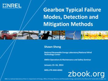 Gearbox Typical Failure Modes, Detection and Mitigation .