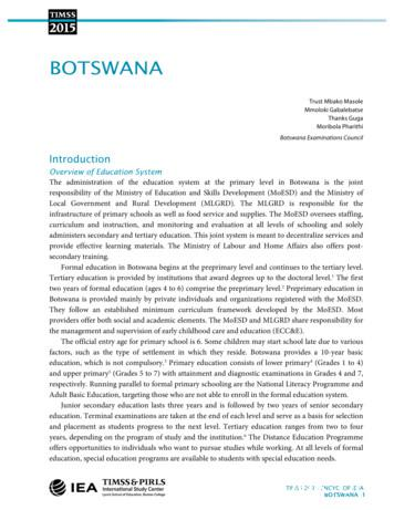 Botswana with header footer - TIMSS 2015