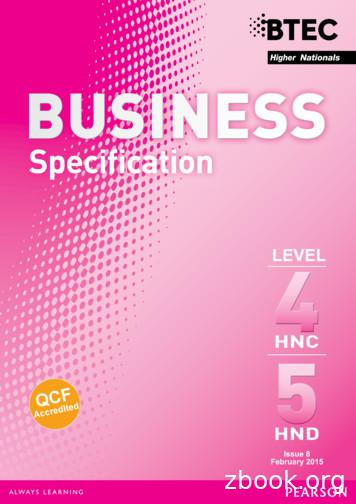 BTEC Higher Nationals Specification