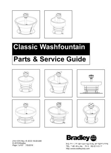 Classic Washfountain Parts & Service Guide