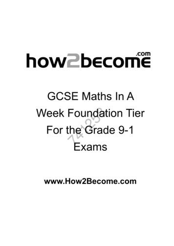 741258 Week Foundation Tier GCSE Maths In A . - How 2 Become