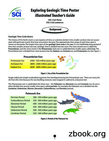 Exploring Geologic Time Poster Illustrated Teacher's Guide
