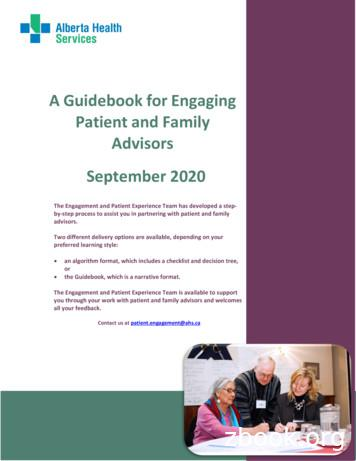 Guidebook for Engaging Patient and Family Advisors