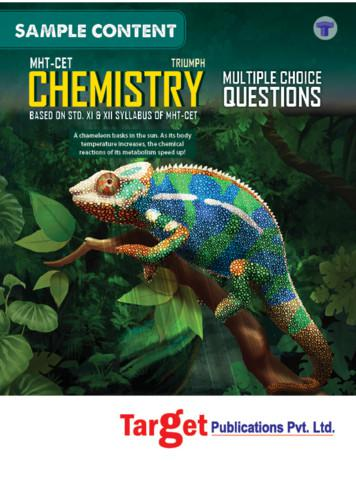 MHT-CET Triumph Chemistry MCQs (Based on XI & XII Syllabus .