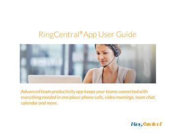 RingCentral App User Guide