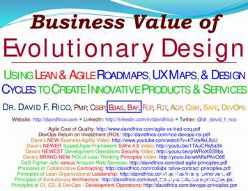 Business Value of Evolutionary Design - Dave's Lean .