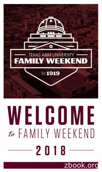 MISSION STATEMENT - Family Weekend