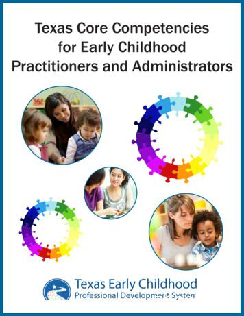 Texas Core Competencies for Early Childhood Practitioners .