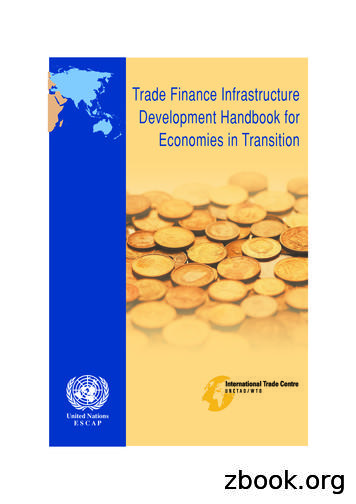 Trade Finance Infrastructure Development Handbook for .