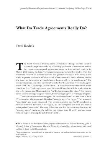 What Do Trade Agreements Really Do? - Dani Rodrik