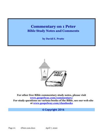 Commentary on 1 Peter - Bible Study Lessons