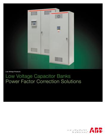 Low Voltage Products Low Voltage Capacitor Banks Power .