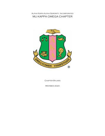 Alpha Kappa Alpha Sorority, Incorporated MU KAPPA OMEGA .