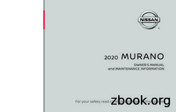 2020 Nissan Murano Owner's Manual and Maintenance .