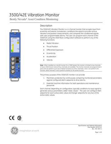 3500/42E Vibration Monitor