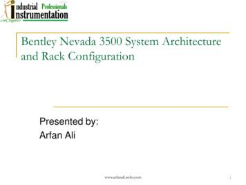 Bentley Nevada 3500 System Architecture and Rack Configuration