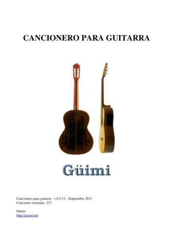 Cancionero para guitarra - v.0.5