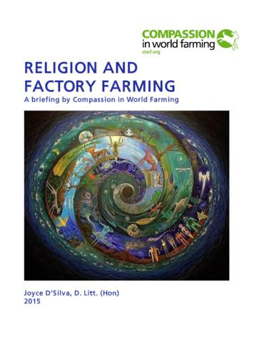 RELIGION AND FACTORY FARMING