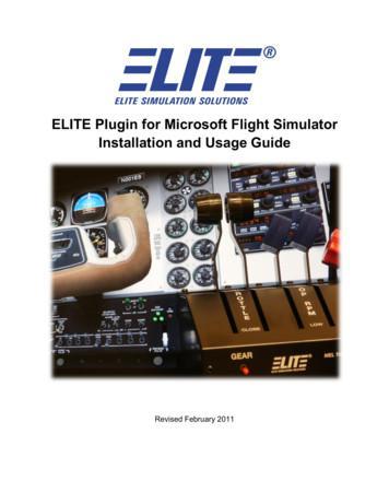 ELITE Plugin for Microsoft Flight Simulator Installation .