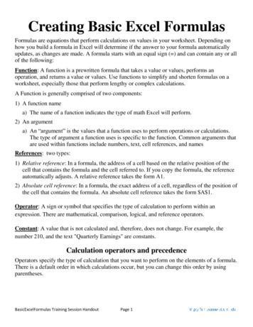 Creating Basic Excel Formulas - Maxwell School of .