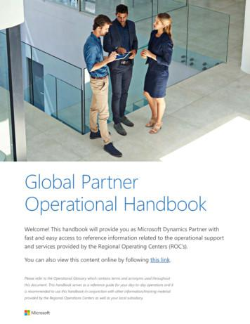 Global Partner Operational Handbook - assetsprod.microsoft