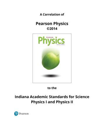 A Correlation of - Pearson Education