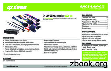TABLE OFGM CONTENTS LAN-29DataInterface2006-Up