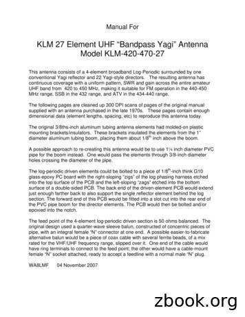 "KLM 27 Element UHF ""Bandpass Yagi"" Antenna Model KLM-420 ."
