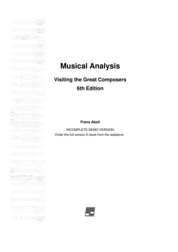 Musical Analysis: Visiting the Great Composers, 6th Edition