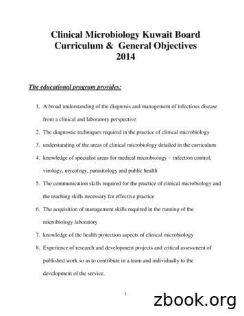 Clinical Microbiology Kuwait Board Curriculum & General .
