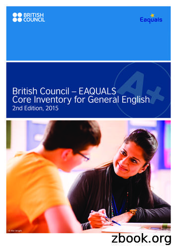 British Council – EAQUALS Core Inventory for General English