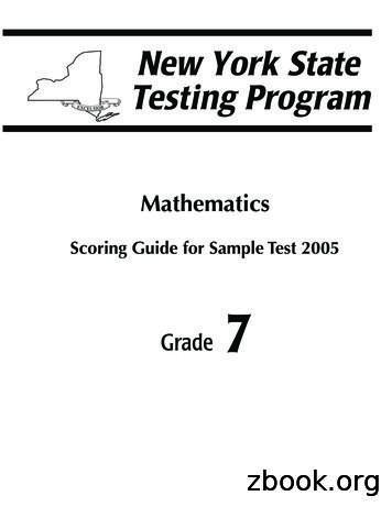 Scoring Guide for Sample Test 2005 - Regents Examinations