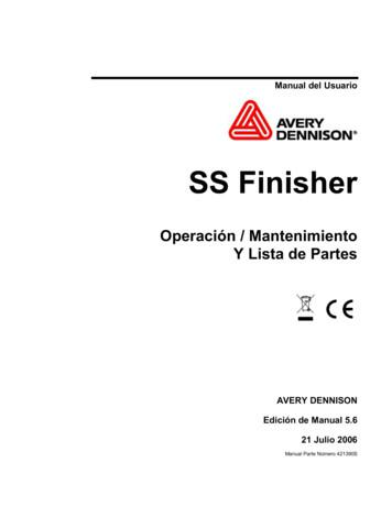 Manual del Usuario - Avery Dennison
