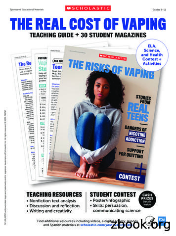 Sponsored Educational Materials Grades 6–12 THE REAL COST .