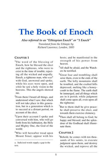 "Also referred to as ""Ethiopian Enoch"" or ""1 Enoch"""