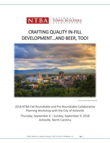 CRAFTING QUALITY IN-FILL - NTBA