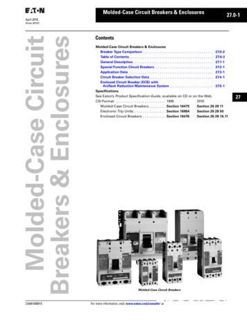 Contents Molded-Case Circuit Breakers & Enclosures