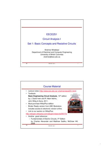 EECE251 Circuit Analysis I Set 1: Basic Concepts and .
