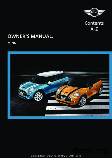 A-Z OWNER'S MANUAL. Contents