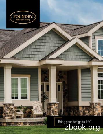 Bring your design to life - Foundry Siding
