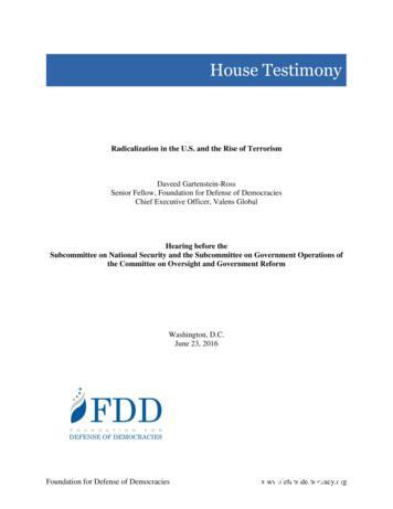 House Testimony