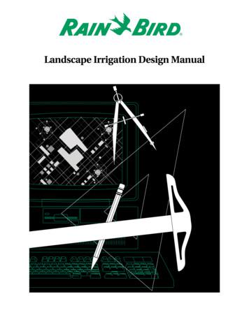 Rain Bird Landscape Irrigation Design Manual