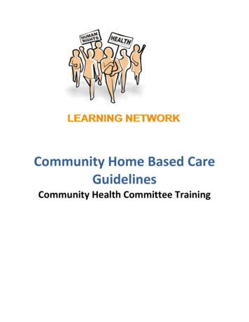 Community Home Based Care Guidelines - University of Cape Town