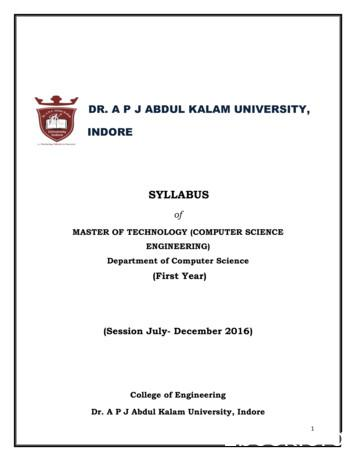 SYLLABUS - aku.ac.in