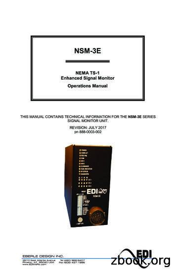 NEMA TS-1 Enhanced Signal Monitor Operations Manual