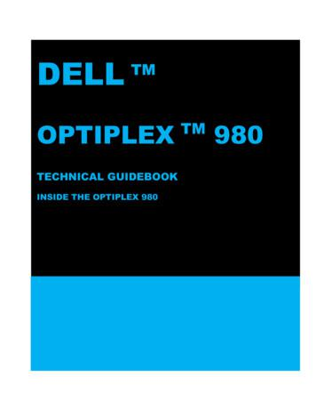 OptiPlex 980 Technical Guidebook - Dell
