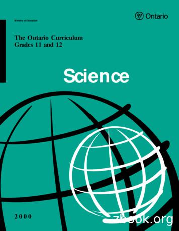 Ontario Curriculum, Grades 11 and 12 Science