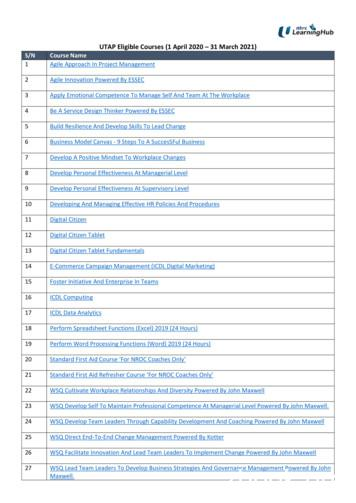 UTAP Eligible Courses (1 April 2020 31 March 2021) S/N .