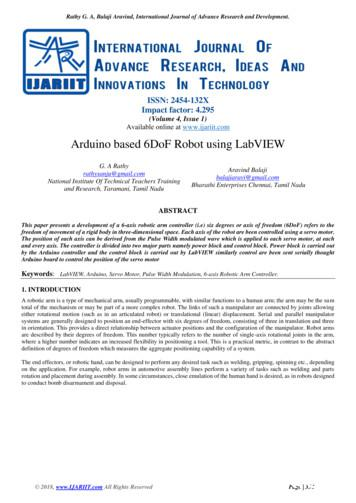 Arduino Based 6DoF Robot using LabVIEW - IJARIIT
