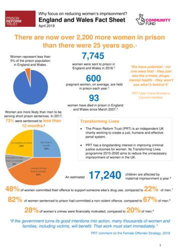 Why focus on reducing women's . - Prison Reform Trust